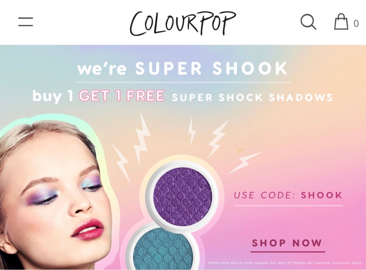 Sale announcement: BOGO ColourPop